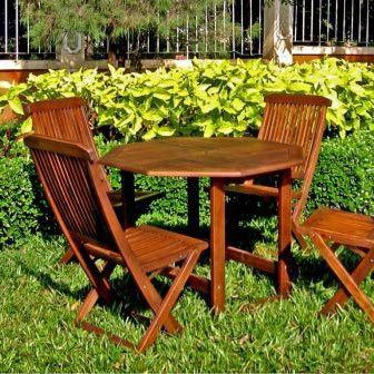 Wood 5 Piece Dining Set