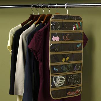 Dual-Sided Hanging Jewelry Organizer