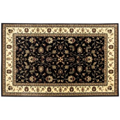 Border Floral Low Profile Rugs & Stair Treads