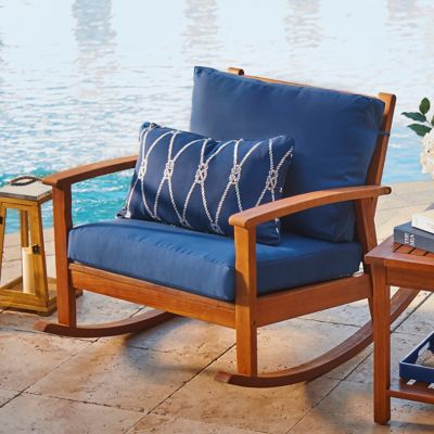Eucalyptus Outdoor Deep Seat Rocker
