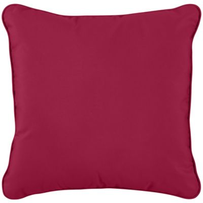"Sunbrella Throw Pillow 20""x20""x6"" - Blush"