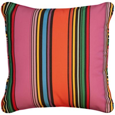 "Sunbrella Throw Pillow 20""x20""x6"" - Icon Pop Stripe"
