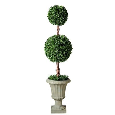 "32"" Tea Leaf Double Ball Topiary"