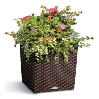 Self-Watering Square Planter-Woven 15"