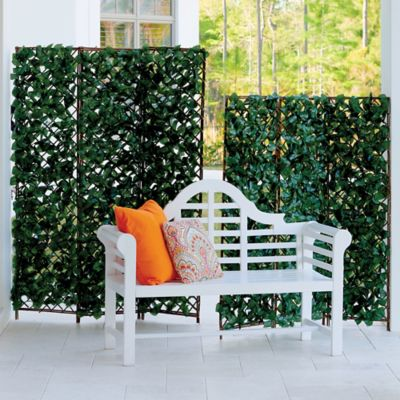 Faux Ivy/Wood Folding Screen