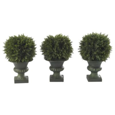 Cedar Ball Topiary Trio