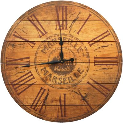Marseille Cedar Wall Clock
