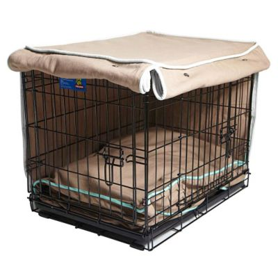 Molly Mutt Crate Covers-Wild Horses Tan