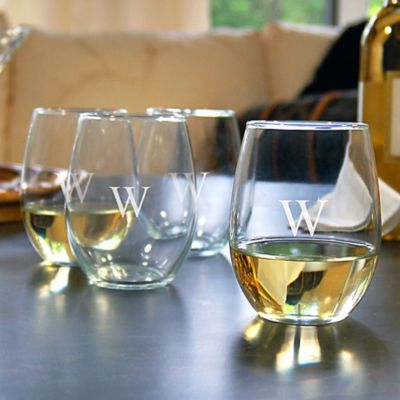 Personalized Stemless Wine Glasses-Set of 4