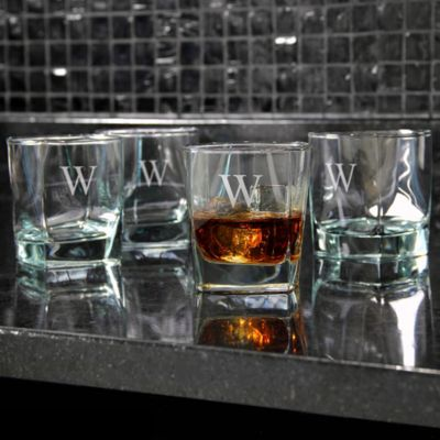 Personalized Rock Glasses-Set of 4