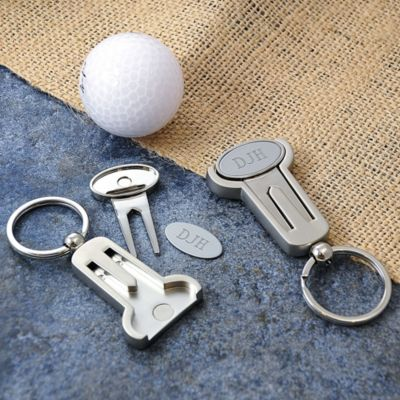 Personalized Multi-Function Golf Key Ring