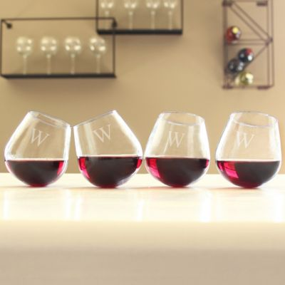 Personalized Tipsy Wine Glasses-Set of 4
