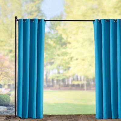 Sunbrella Outdoor Curtain Panel-Cyan Blue