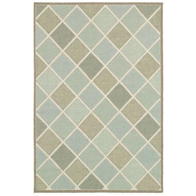 Meridian Multi Diamond Outdoor Rug