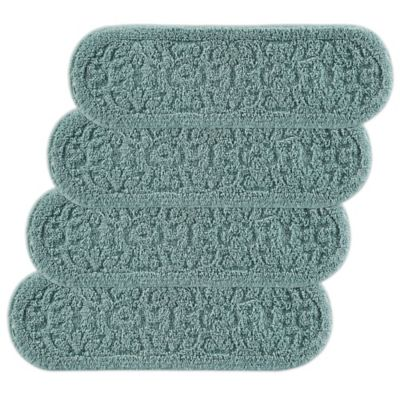 Rowan Embossed Washable Stair Treads-Set of 4