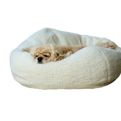 Sherpa Puff Ball Dog Bed