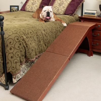 Wood Bedside Dog Ramp
