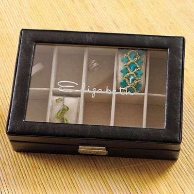 Personalized Women's Leather Jewelry Box