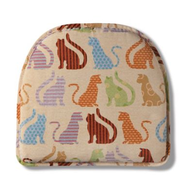 Animal Print Gripper Chair Pad