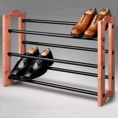 Expandable Cedar Shoe Rack