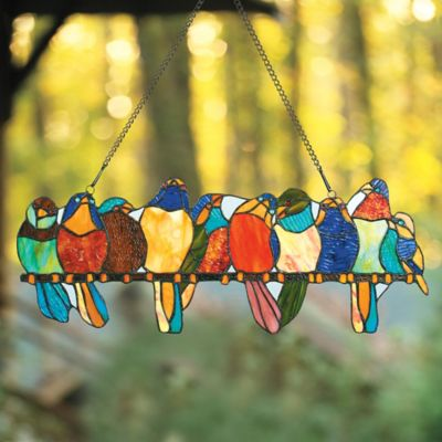 Stained Glass Bird Window Art