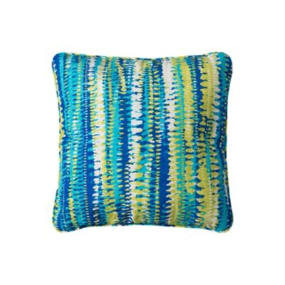 "15'' Throw Pillow 15""x15""x6"" - Ocean Surf Print"