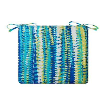 "Patio Seat Cushion 18-1/2""x19-1/2""x3"" - Ocean Surf Print"