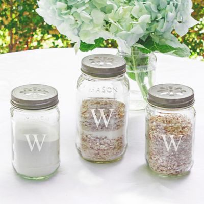 Personalized Wedding Day Mason Jar Sand Ceremony Set