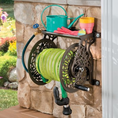 Wall-Mount Cast Aluminum Hose Reel