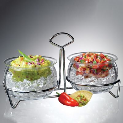 Double Iced Dip Bowl Set with Caddy |