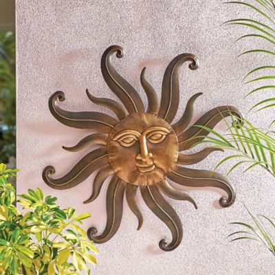 Metal Sunface Wall Decor