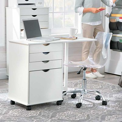 Wellesley Cart with Gate Leg Desk Extension
