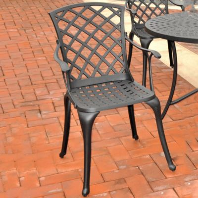 Sedona Cast Aluminum High Back Arm Chairs-Set of