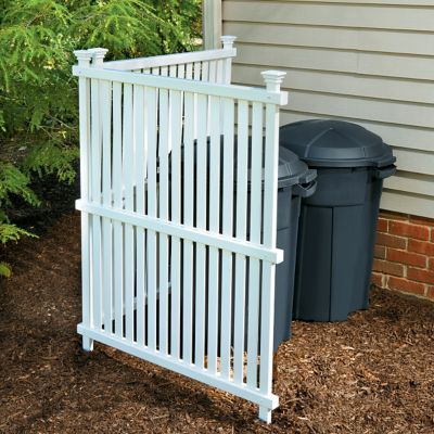 No-Dig Vinyl 2-Piece Privacy Screen