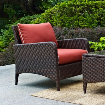 Kiawah Resin Wicker Patio Arm Chair with Cushion