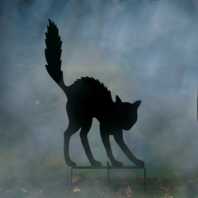 Halloween Cat Silhouette Yard Decor