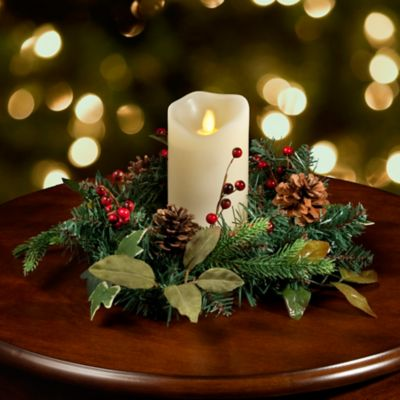 Christmas Greenery Candle Ring