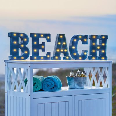 Marquee Lighted Beach Sign