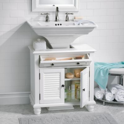 Newport Louvered Pedestal Sink Cabinet