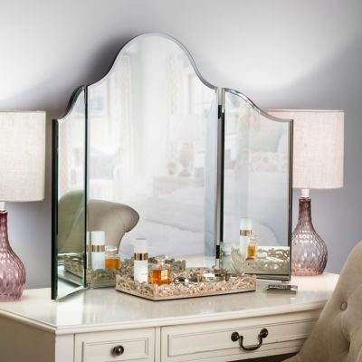 Frameless TriFold Wall Mirror