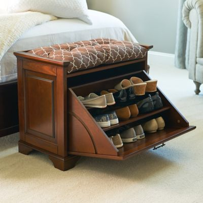 Essex Tilt-Out Shoe Bench
