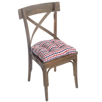 Gingham Universal Tufted Chair Pad