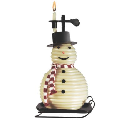 Candle by the Hour Snowman Candle