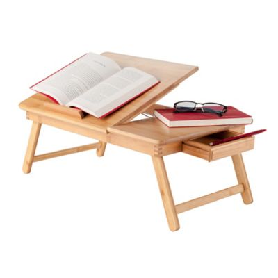 Bamboo Lap Desk/Bed Tray with Drawer