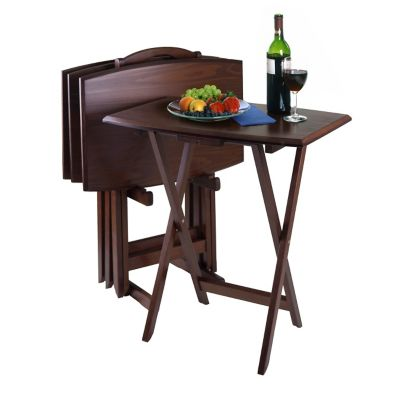 Danvers Oversized Snack Tray Table Set with Stand
