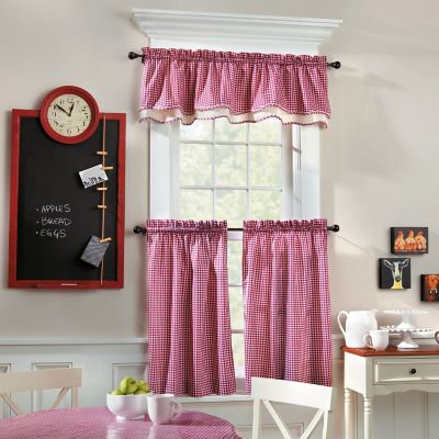 Gingham Kitchen Tiered Curtains