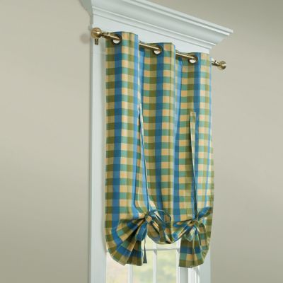 Thermalogic Perfect Plaid Insulated Curtains-Tie-Up Shade
