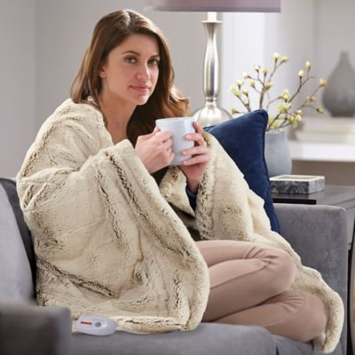 Serta Heated Faux Fur Throw