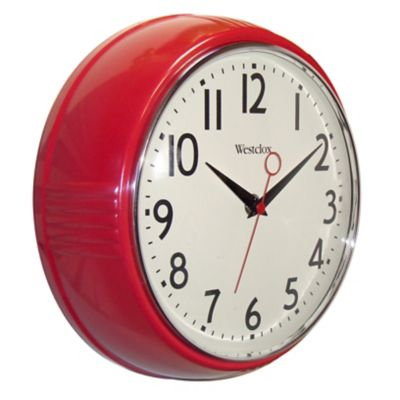 Westclox Retro Wall Clock-9-1/2""