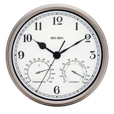Big Ben Indoor/Outdoor Wall Clock-12""